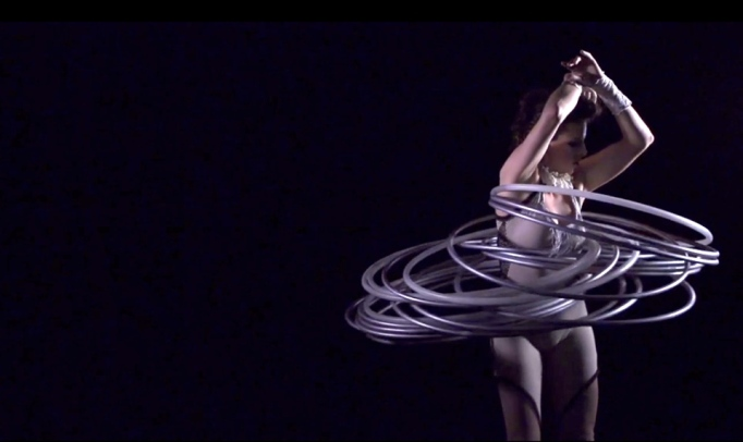 Hula Hoop Act with Vintage Costume
