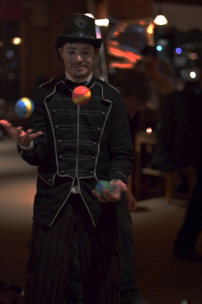 Ambient Juggling B/W Ringmaster Costume