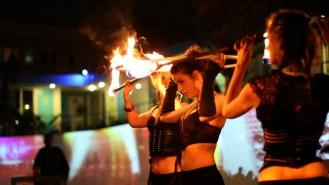 Fire Hula Hoop Act