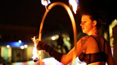 Fire Dancing (Fire Hoop)
