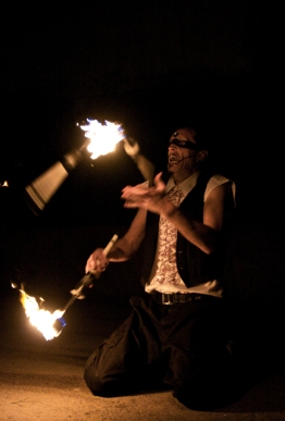 Fire Juggling Act